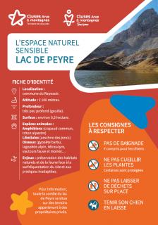 Environnement naturel sensible - Lac de Peyre